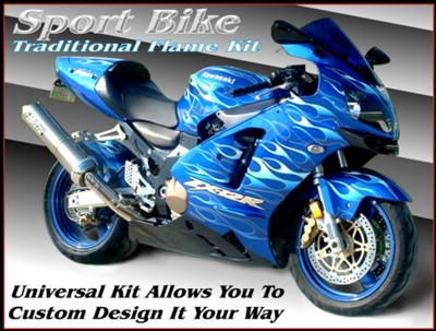 Motorcycle Decals Under Clear Paint Motorcycle Graphics Kits - Custom motorcycle stickers design